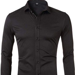 Other - Mens Dress Shirts, Bamboo Button Down Casual Slim